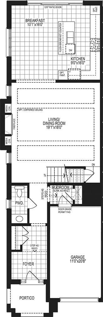 The Indigo | Main Floor Plan