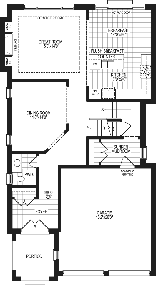 The Kingfisher Main Floor Drawing