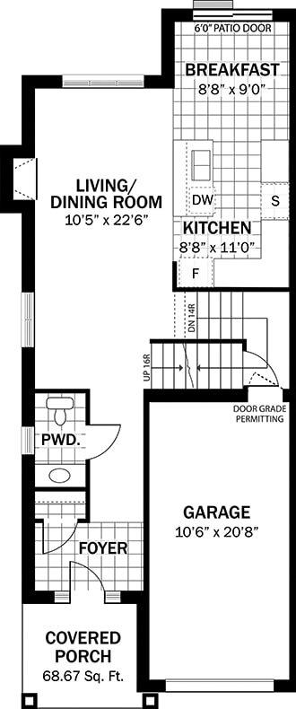 The Heron | Main Floor Layout